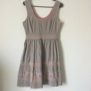 Jessica Simpson Grey and Pink Dress Size 4